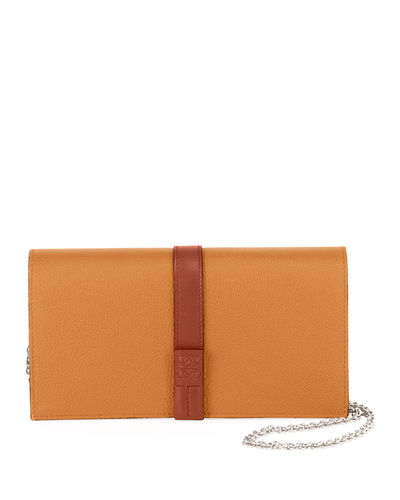 Calfskin Leather Wallet On A Chain
