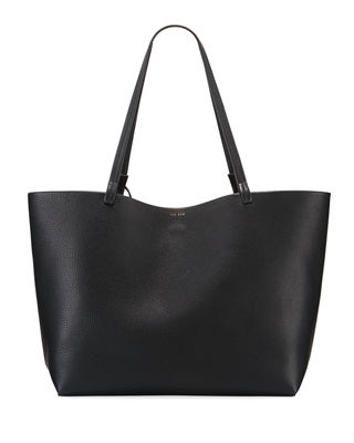 The Row Park Lux Grained Leather Shopper Tote Bag KkPVMvbogZ