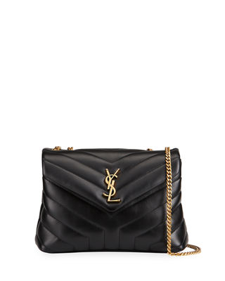 Saint Laurent Loulou Monogram YSL Small V-Flap Chain