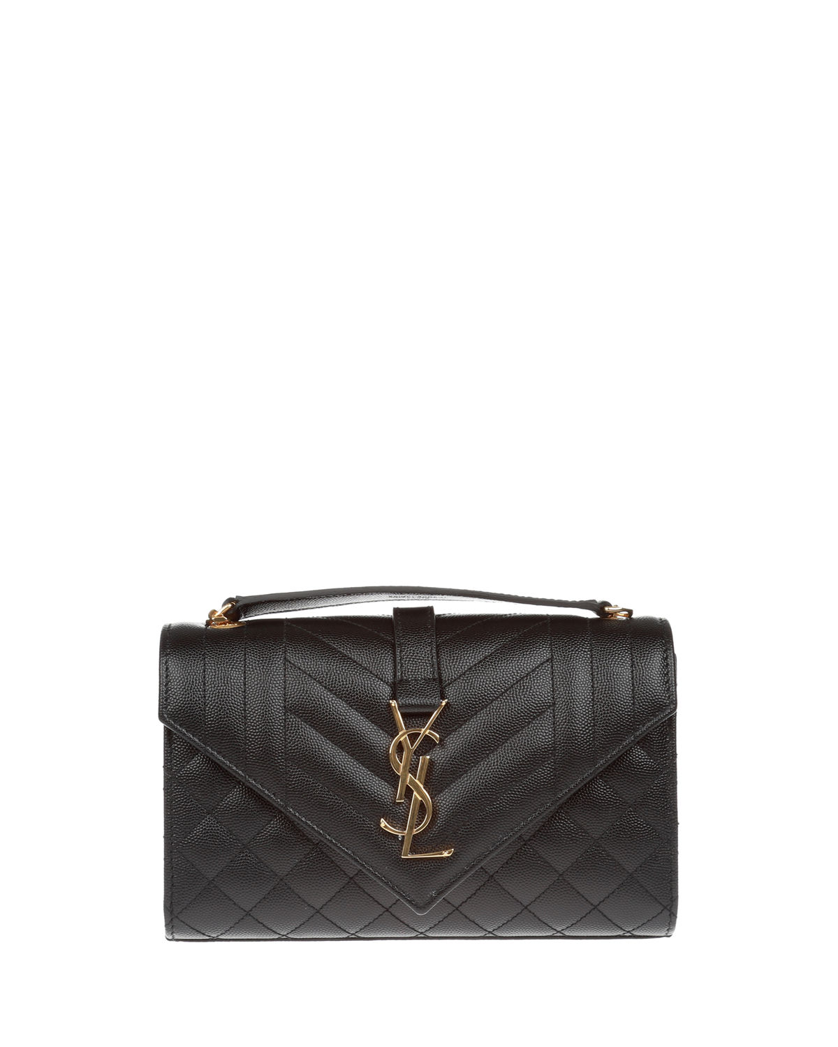 931cab85a41 Saint LaurentMonogram YSL Envelope Small Chain Shoulder Bag - Golden  Hardware