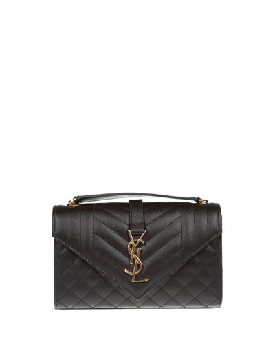 Monogram YSL Envelope Small Chain Shoulder Bag - Golden Hardware