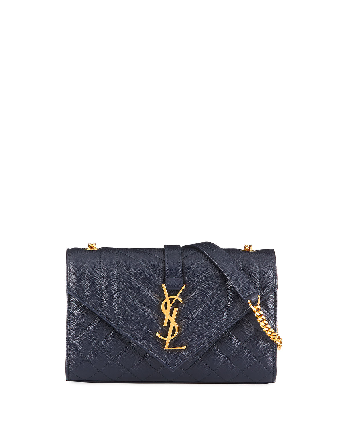9a032bc56faa Saint LaurentMonogram YSL Envelope Small Chain Shoulder Bag - Golden  Hardware