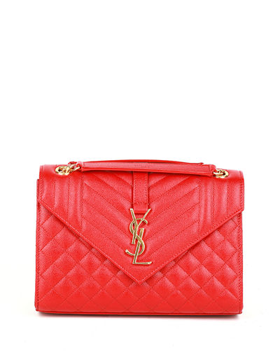 49263d9063c7 Quick Look. Saint Laurent · V Flap Monogram YSL Medium Envelope Chain  Shoulder Bag ...