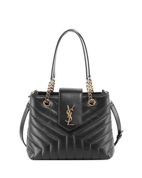 6078ef5cef Image 1 of 3: Saint Laurent Monogram YSL Loulou Small Quilted Leather Tote  Bag -