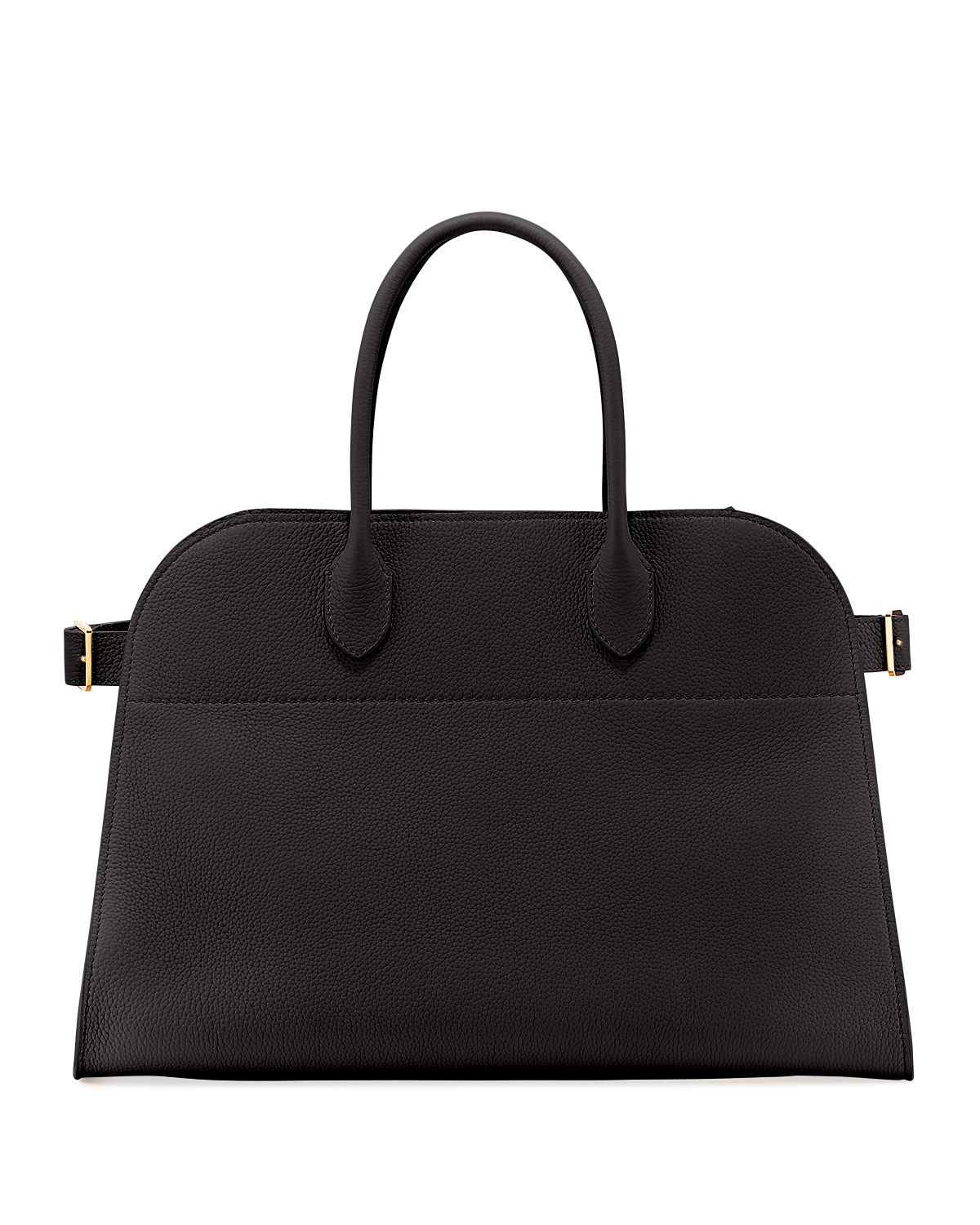 The Row Margaux 15 Grained Leather Top Handle Bag Neiman