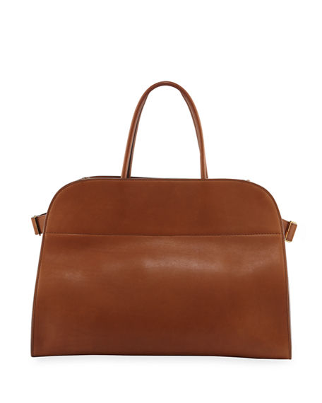 THE ROW Margaux 17 Bag in Saddle Leather