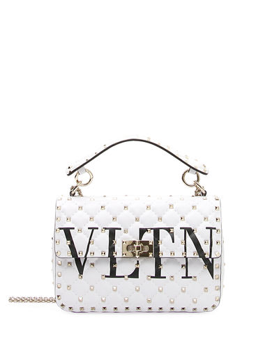 VLTN Spike.It Quilted Leather Shoulder Bag
