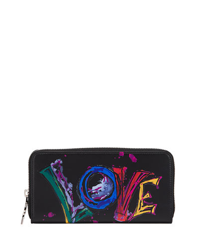 Panettone Paris Love Brushstroke Zip Wallet