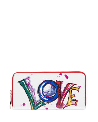 Christian Louboutin Panettone Paris Love Brushstroke Zip Wallet