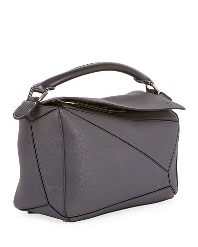 Puzzle Small Grained Leather Satchel Bag