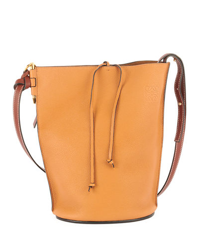 Gate Calfskin Leather Bucket Bag