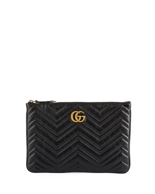 004651a81fb9 Gucci GG Marmont Quilted Leather Zip Pouch Bag
