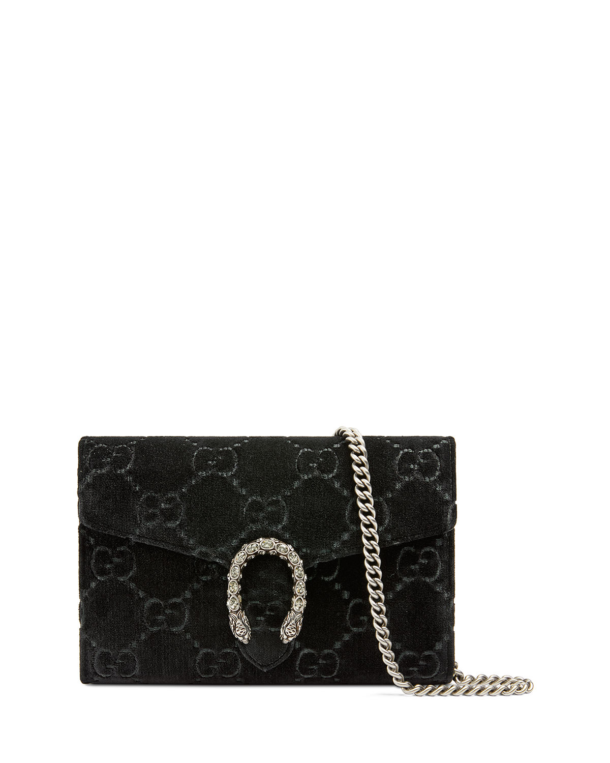 a0b703810a0e Gucci Dionysus Velvet GG Supreme Wallet On Chain