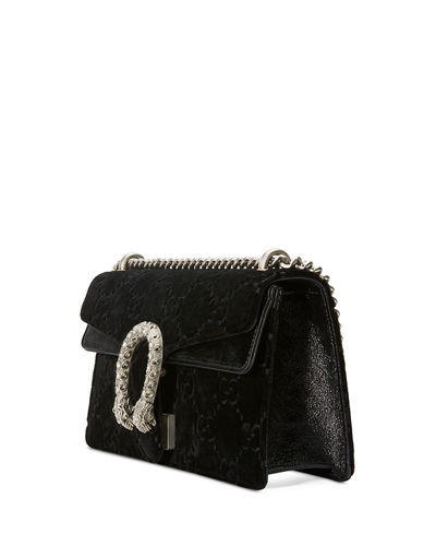 Dionysus Small Velvet GG Supreme Shoulder Bag