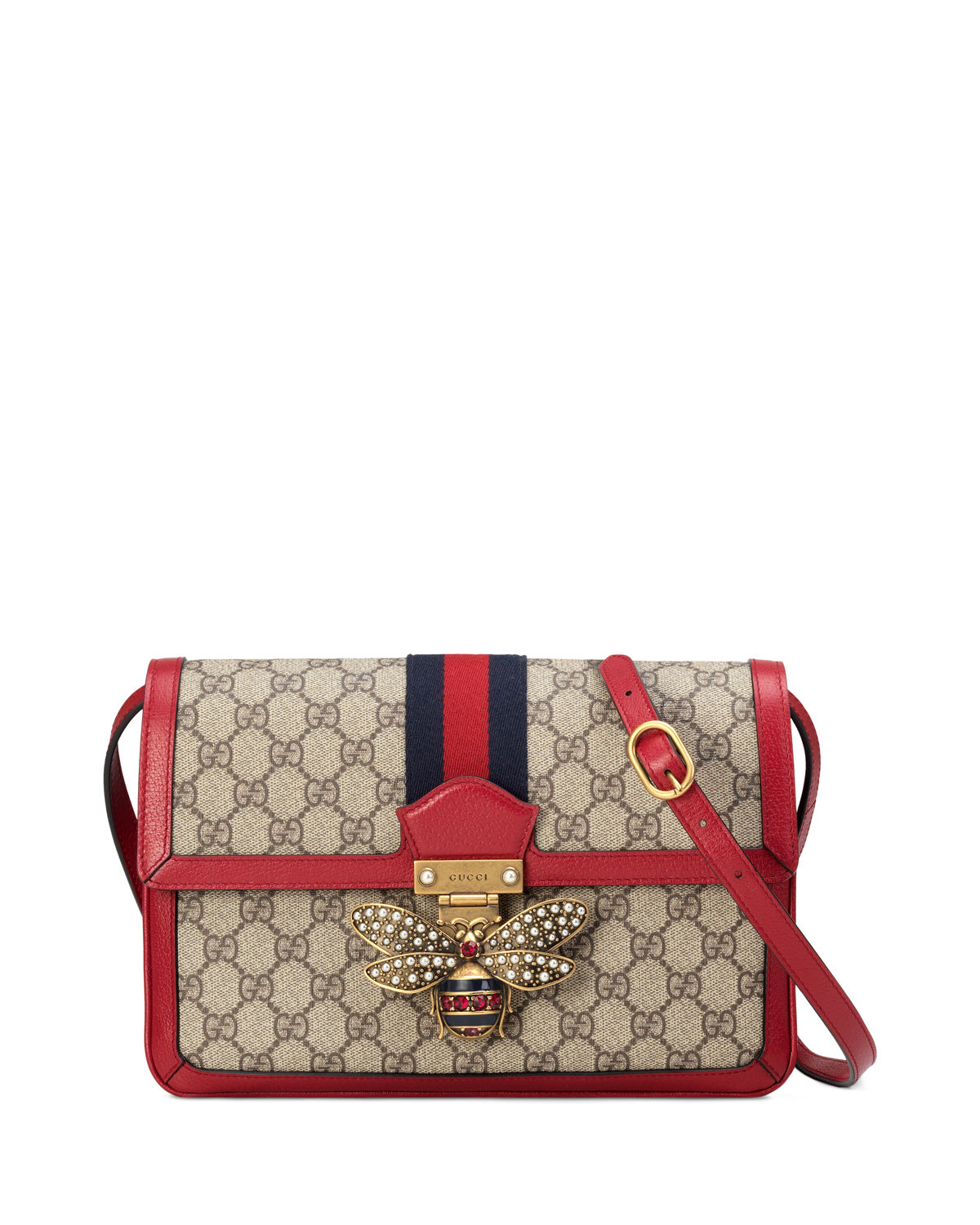 4ac9da2282ee Gucci Queen Margaret Medium GG Supreme Shoulder Bag | Neiman Marcus
