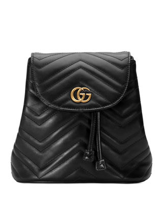 Gucci Gg Marmont 2.0 Matelasse Leather Mini Backpack - Black