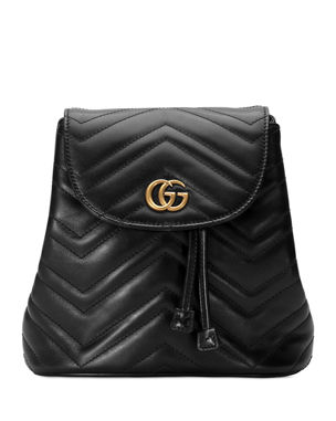 0db857c769c759 Gucci GG Marmont Chevron-Quilted Leather Backpack