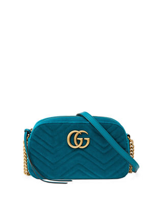 GG MARMONT VELVET SMALL SHOULDER BAG