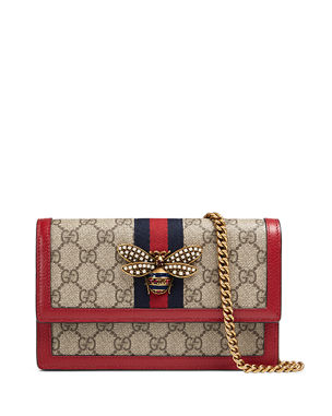 aa66c8afc2f9 Gucci Queen Margaret GG Supreme Wallet On Chain