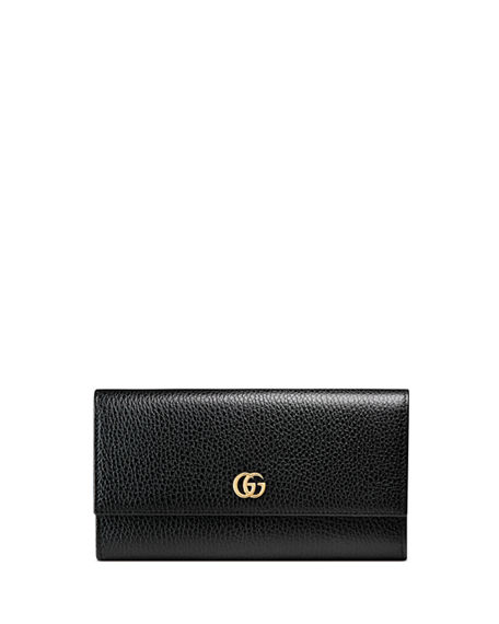 02a1289cbf9 Image 1 of 3  Gucci Petite Marmont Leather Flap Wallet