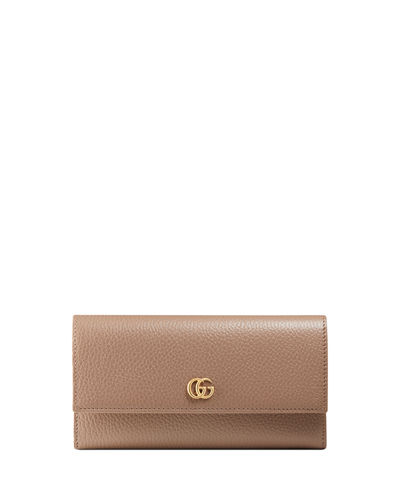 59ed0889238761 Quick Look. Gucci · Petite Marmont Leather Flap Wallet