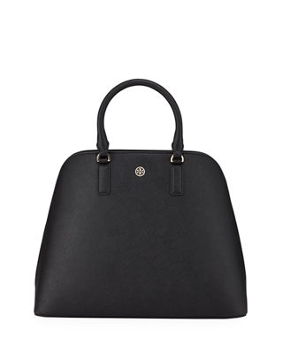 ROBINSON LEATHER DOME SATCHEL - BLACK