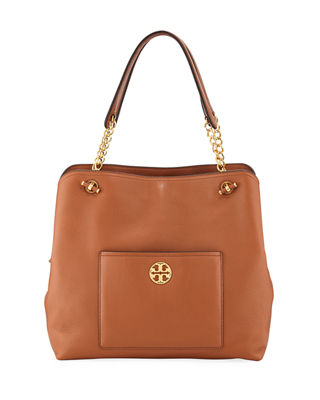 Chelsea Slouchy Leather Shoulder Tote Bag, Classic Tan