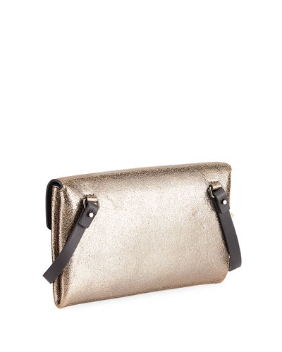 City Metallic Leather Crossbody Bag