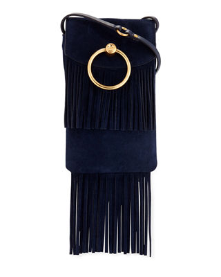 Farrah Fringe Suede Phone Crossbody Bag