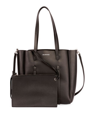 Everyday Small Leather Tote Bag in Black