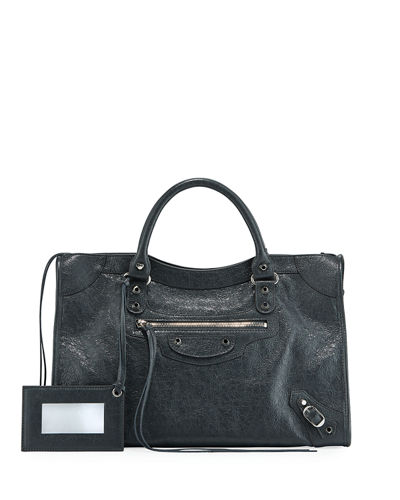 Classic City AJ Satchel Bag with Logo Strap