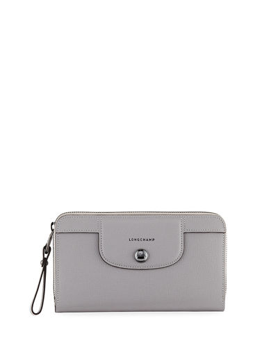 Le Pliage Heritage Leather Zip Wallet
