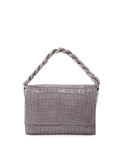 Carrie Crocodile Clutch Bag