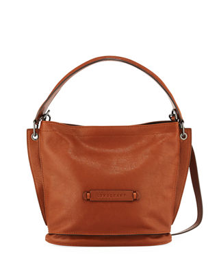 Longchamp 3D Leather Crossbody Hobo Bag