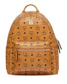 MCM Stark Outline Studs Convertible Visetos Backpack
