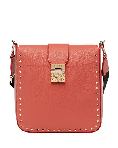 Kasion Medium Studded Outline Park Avenue Crossbody Messenger Bag