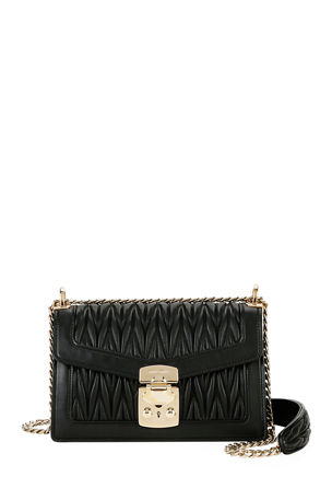 Miu Miu Miu Confidential Matelasse Leather Flap Shoulder Bag