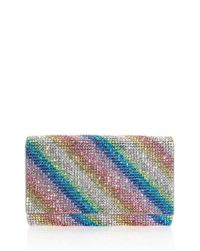 Fizzy Rainbow Crystal Full-Beaded Clutch Bag