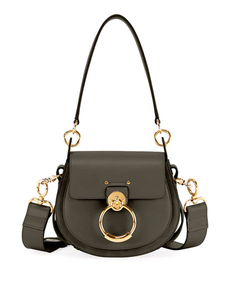 CHLOÉ Tess Large Leather/Suede Camera Crossbody Bag