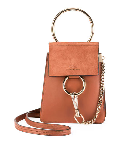 Faye Leather/Suede Bracelet Crossbody Bag