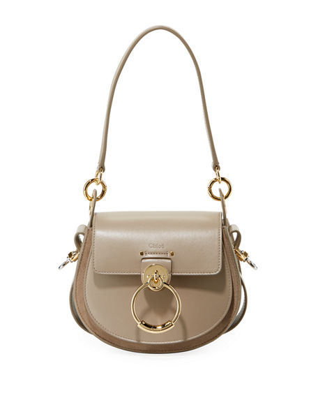 Chloe Tess Small Leather/Suede Camera Crossbody Bag | Neiman Marcus