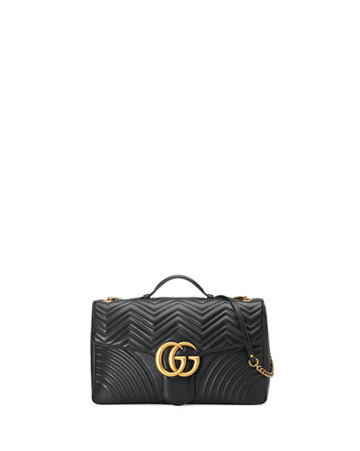 GG Marmont Maxi Quilted Top-Handle Bag