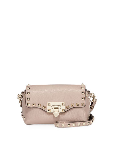 Rockstud Mini Leather Crossbody Bag