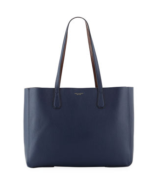 Phoebe Leather Tote Bag in Blue