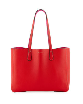 Perry Leather Tote - Red, Brilliant Red
