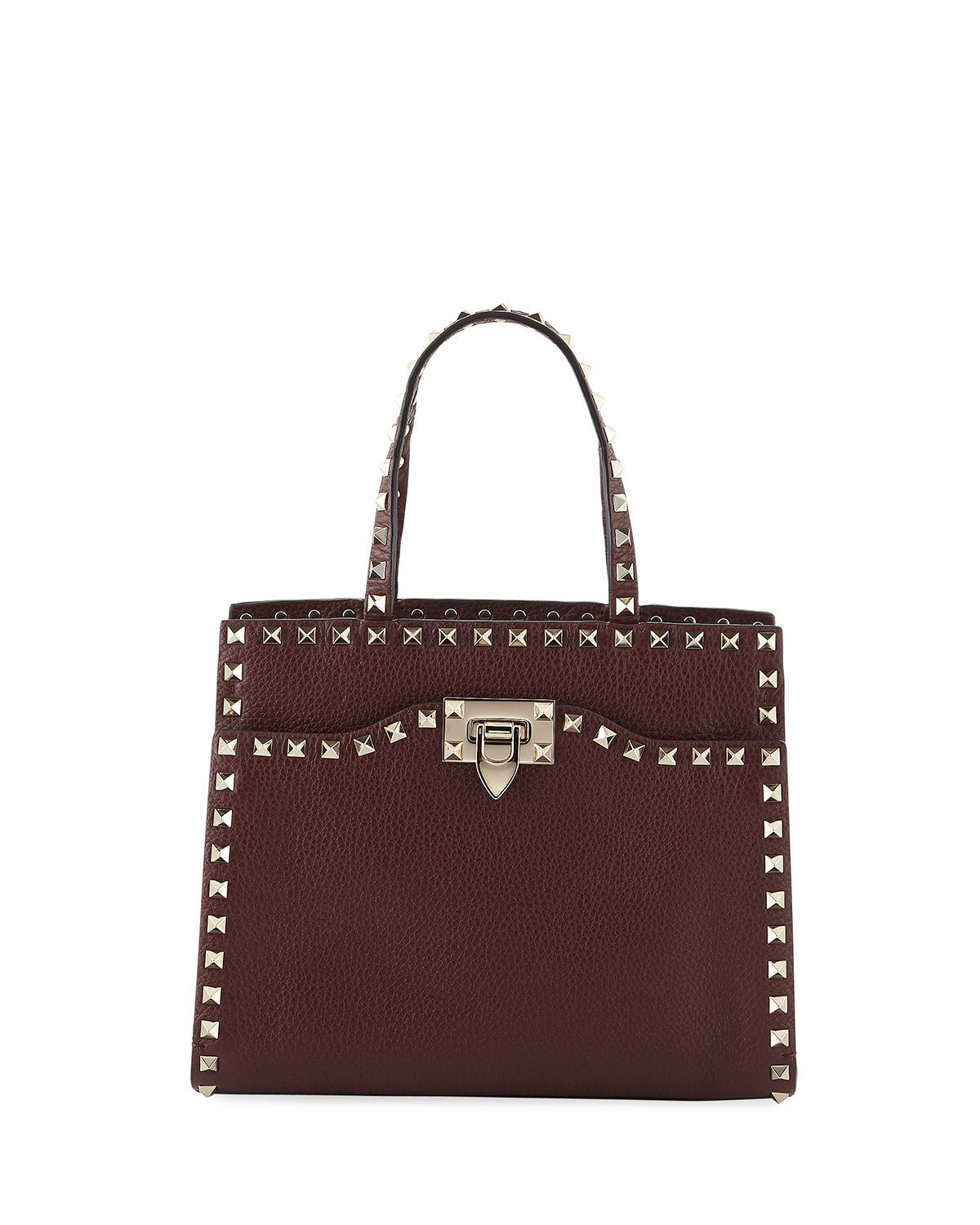 f273b76d55a Valentino Garavani Rockstud Small Vitello Leather Tote Bag