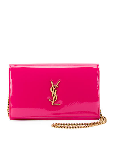 Kate Monogram YSL Patent Wallet on Chain