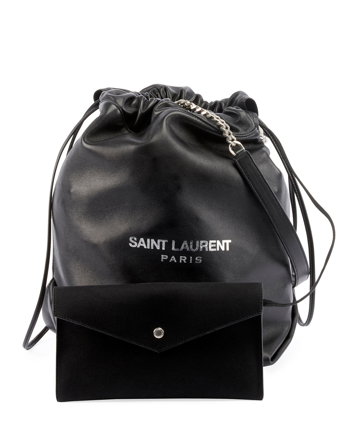 Saint Laurent Teddy Drawstring Bucket Bag  eac65809793d9