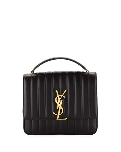 Quick Look Saint Laurent Vicky Monogram Ysl Large Quilted Leather Chain Crossbody Bag