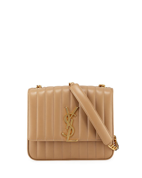 Saint Laurent Vicky Monogram Ysl Large Quilted Leather